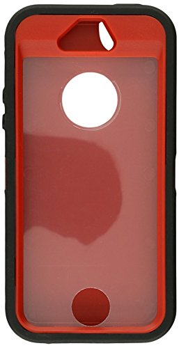 Generic MC0006 Cell Phone Case for iPhone 5/5s - Non-Retail Packaging - Black & Red