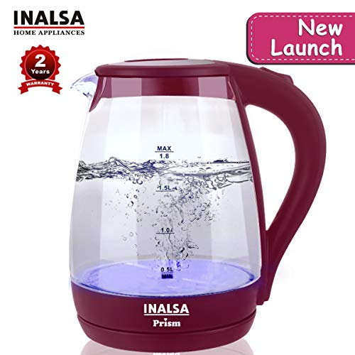 Inalsa Glass Electric Kettle PRISM (1.8 L)