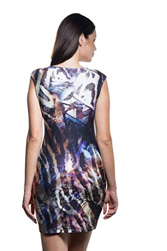 Dress Sleeveless Summer Made Boatneck Medium Fashion Calison in Women's USA Zqf4wxg