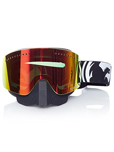 Dragon Alliance Unisex Inverse Kit NFX Snowmobile Goggles Eyewear, Red And Yellow/Blue Ionized, One Size by Dragon Alliance