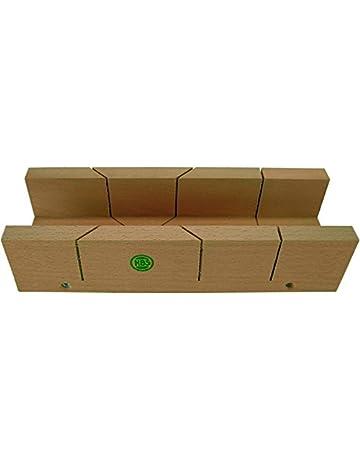 HaWe 0232.4 – Caja de ingletes 250 x 57 x 40 mm rojo madera de haya