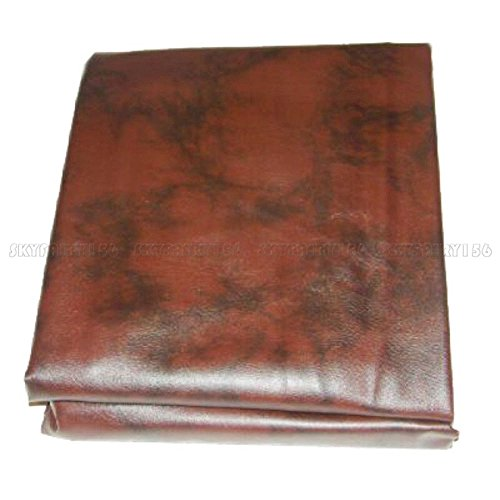 (TimmyHouse Fitted Leatherette Billiard Pool Table Cover Heavy Duty Burgundy 8 ft Foot)