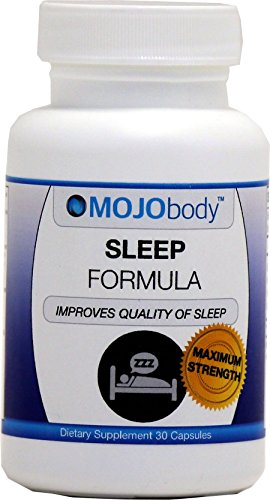 Sleep Formula, 30 Capsules, Valerian Root, Hops, Kava Kava, and Melatonin, by MOJObody™ Improves The Quality of Your Sleep!