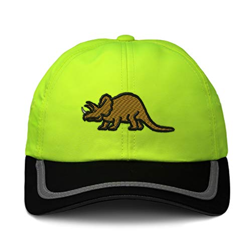 Reflective Running Hat Triceratops Dinosaur B Embroidery Polyester