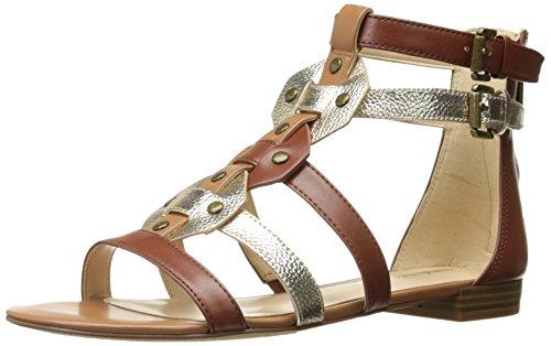 Nine West Women's Irvette Synthetic Gladiator Sandal, Cognac Multi, 7 M (Nine West Gladiator Sandals)