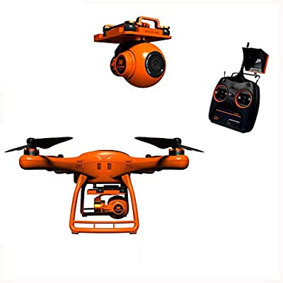 NUOYUO Wingsland UAV Drone Remote Control Helicopter 5.8G POI FPV With HD Camera RC Quadcopter with GPS Auto Return Function with Monitor