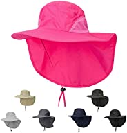 ZffXH Packable Neck Flap Sun Protective hat Sun Protection Waterproof Hiking Cap Wide Brim UPF 50 Scarf