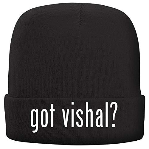 BH Cool Designs got Vishal? - Adult Comfortable Fleece Lined Beanie, Black