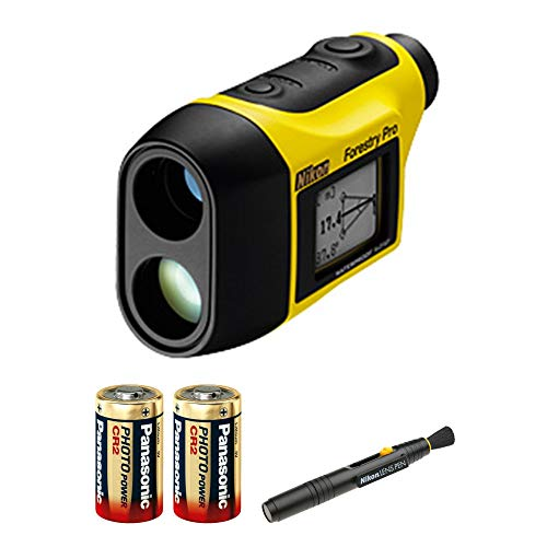 Nikon Forestry Pro Laser Rangefinder with 2 Spare Batteries Lens Pen Bundle