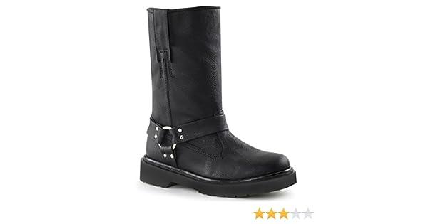 9532c374049 Amazon.com   Demonia RIVAL-303 Women Boot, Blk Vegan, Size -6   Mid-Calf