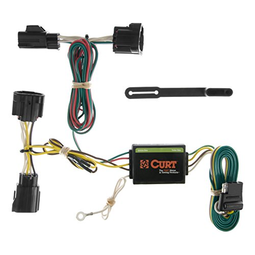 CURT 55414 Vehicle-Side Custom 4-Pin Trailer Wiring Harness for Select Jeep Commander ()