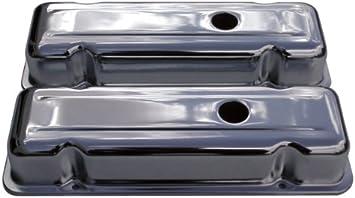 "For 1980-1984 Chevy 229 3.8L V6 Chrome Short Style 2 1//2/"" Steel Valve Covers"