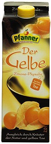 Pfanner Gelber Tee Zitrone-Physalis, 2 l