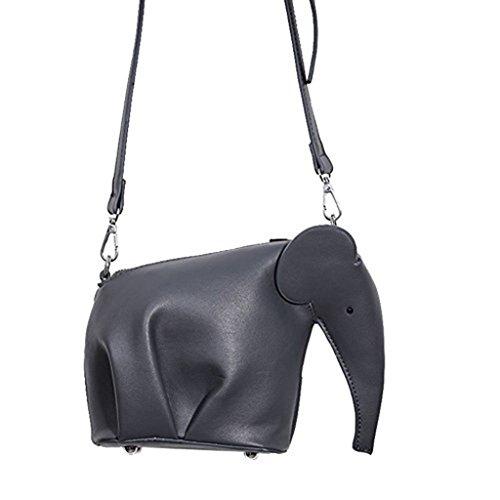 Elephant Purse - Badiya Women's Cute Candy Color Elephant Style PU Leather Mini Cross-body Bag