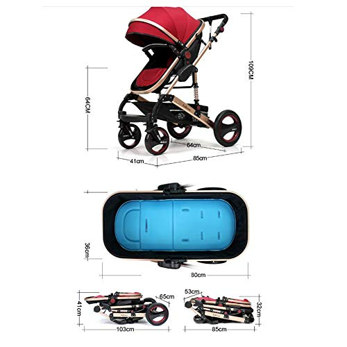 Con Carro Bebé Cuatro Vías Impactos Absorción Puede Reclinarse De A Suv Plegable Tzq Dos Carrito Ruedas Cochecito EIwUdYIqF