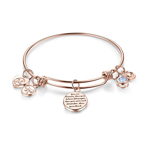 Inspirational+Charm+Bangle+Bracelet+Engraved+%22You+are+braver+than+you+believe+Stronger+than+you+seem+and+Smarter+than+you+think%22+Motto+Womens+Jewelry+Girls+Gifts