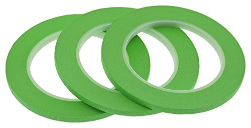 "3pk 1/2"" in x 60yd Light Lime Green Masking Tape Extra Sticky PRO Grade High Stick Special Project Painters Tape Painting Trim Arts Crafts School Home Office 21 Days 12MM x 55M .5 inch Pastel Neon"