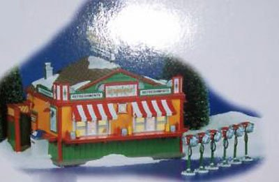 Department 56 Snow Village Stardust Refreshment Stand