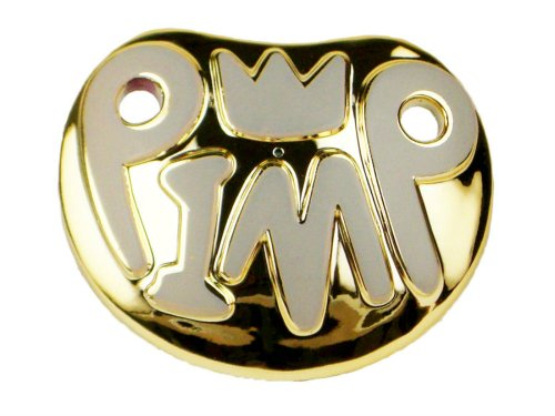 Billy Bob Playground Pimp Baby Pimp Gold Pacifier