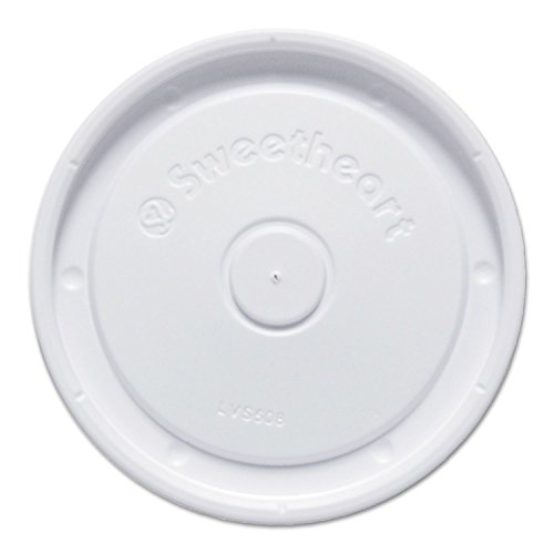 Polystyrene Lids f/6-10 oz Food Containers, White, 100/Bag, 20 Bag/Carton by SOLO Cup Company