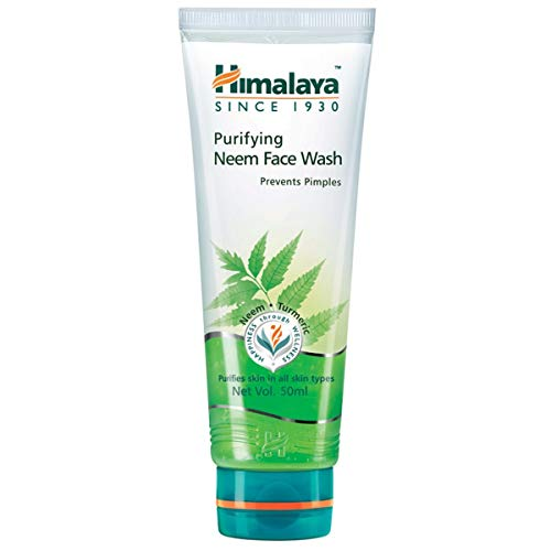 Himalaya Herbals Purifying Neem Face Wash, 50ml  2 pack