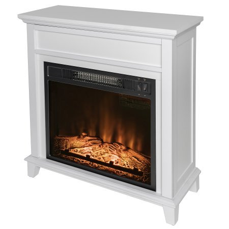 AKDY 23 Black Freestanding Electric Firebox Fireplace