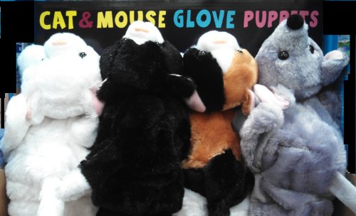 Cat & Mouse Glove Puppets (Set of 4)