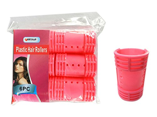 HAIR ROLLER PLASTIC 6PC 36MM, Case of 96 by DollarItemDirect