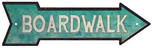 Chico Creek Signs Board Walk Rt Arrow Vintage Looking Beach House Metal Sign 5x17 205170001019 (Looking Beach Furniture)