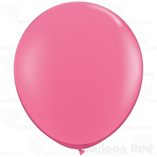 [36 Inch Giant Jumbo Latex Balloons (Premium Helium Quality), Pack of 3, Regular Shape - Rose Red] (Super Easy Character Costumes)