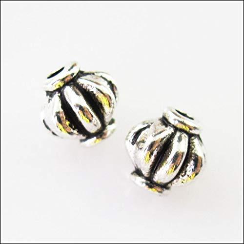 (Mercury_Group,Hamemade Jewelry - New 20Pcs Tibetan Silver Tone Pumpkin Spacer Beads Charms 6mm)