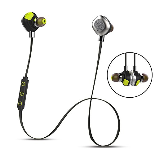 mifo U5 Plus Sports Bluetooth Headphones in Ear, Magnetic Aluminum Design IPX7 Waterproof apt-X Earphone, 8 Hours Playtime Noise Canceling NFC Stereo Headset with Mic for Sports Gym - Street Shopping Hours Canal
