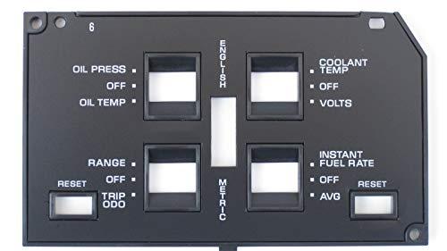 88 89 Dash Trim - Vette Masters 1984-89 Corvette Dash Information Center Face Plate