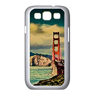 Golden Gate Watercolor style Cover Samsung Galaxy S3 I9300 Case