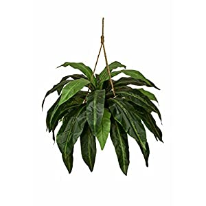 Double Giant Artificial Birds Nest Fern Hanging Basket Silk Plant Arrangement 86