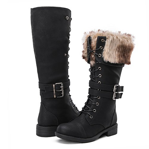 Global Win Women's Fashion Winter Boots (9 D(M) US Women's, YY02Black) by Global Win