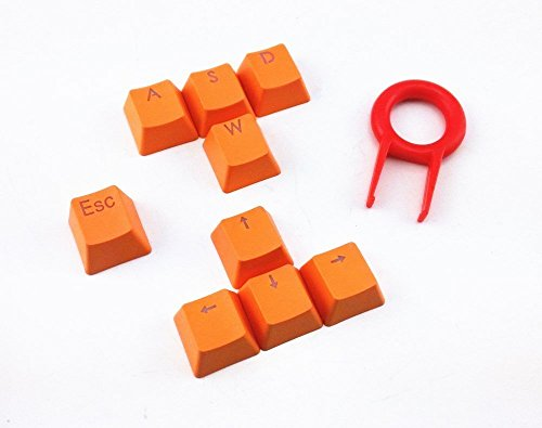 E-Element Double Shot PBT Keycap Set - 9 Translucent Backlit Key Cap for Mechanical Keyboards (Cherry mx switches) with Puller