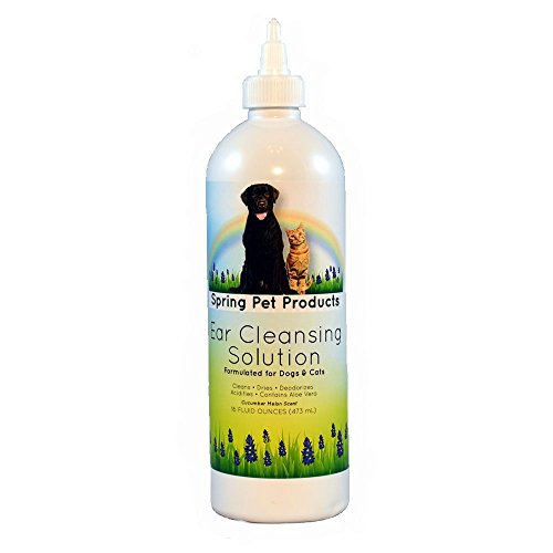 Spring Pet Ear Cleansing Solution for Dogs and Cats 16 oz (1 pack)