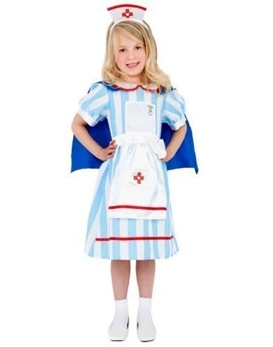 Boys Girls Kids Surgeon Doctor Nurse ER Uniform Dress Up Fancy Dress Costume Outfit 4-12 years (7-9 years, Girls) by Fancy (Nurse Costume For Kids)