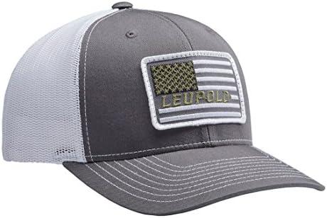 d4cd8bce Amazon.com : Leupold Hat #112 Flag Patch Trucker Cap 172603 : Sports &  Outdoors