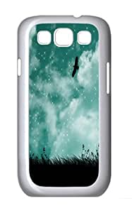 Samsung Galaxy S3 Case and Cover- Bird In The Sky Vector Custom PC Case for Samsung Galaxy S3 / SIII / I9300 White