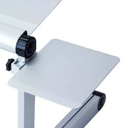 Furinno MP01-SV Mousepad Attachable to Aluminum Folding Laptop Tray Stand, (Mouse Tray)
