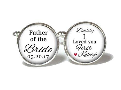 Personalized Cufflinks Gift Father of the Bride Cuff Links for Men Wedding Cuff Links Daddy I Love You Gift Sinluen cufflinks5