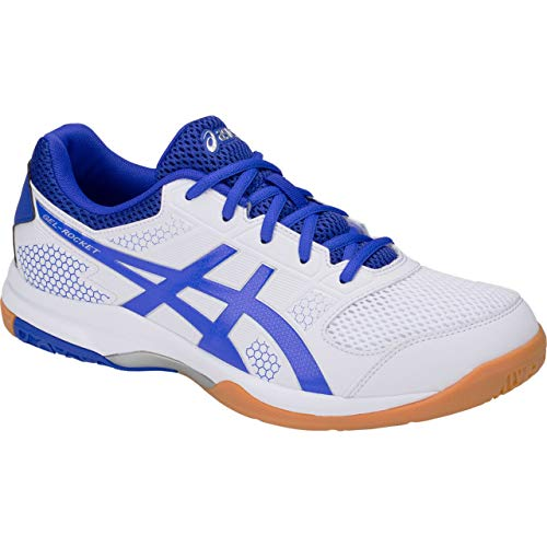 ASICS Men's Gel-Rocket 8 White/Illusion Blue Badminton Shoes- 7 UK/India (41.5 EU) (8 US) (B706Y.124) (B07KJ5XVXF) Amazon Price History, Amazon Price Tracker