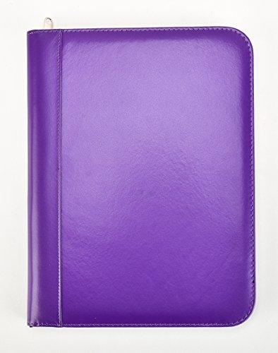 Arpan Deluxe A4 Zipped Conference Folder With Calculator & Pad / Executive Portfolio - Purple