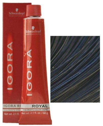 Schwarzkopf Professional Igora Royal Permanent Hair Color, 1-1, Blue Black, 60 Gram
