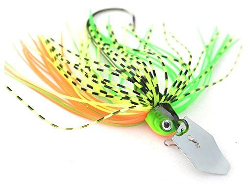 1/3 oz Bladed Chatterbait Skirted Bass Fishing Lure (Chartreuse)