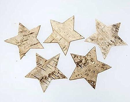 100 Stk Birkensterne 4cm Groß Weihnachten Tischdekoration Sterne Birke Rinde Holz Dekosterne Holzsterne Birkenrinde Stern Streuteile Basteln