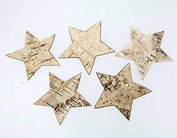 100 Stk Birkensterne 4cm Gross Weihnachten Tischdekoration Sterne