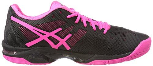 Asics Gel-Solution Speed 3, Chaussures de Tennis Femme Noir (Black Hot Pinksilver 9020)